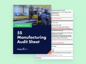 5S Manufacturing Audit Sheet